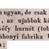 1833.07.11. Dezsőfy burnótgyár