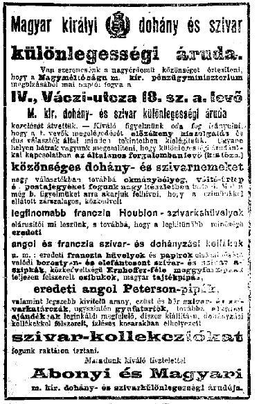 1898.11.01. Dohányáruda