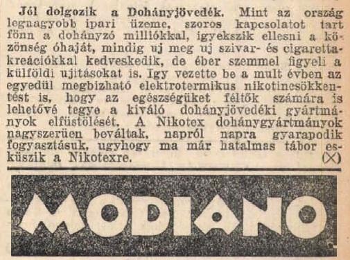 1931.08.30. Bevált a Nikotex